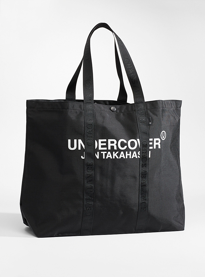 Undercover Black Logo large tote for men