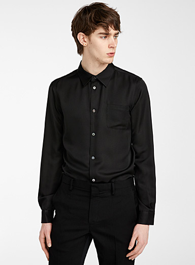 Undercover Black Ottoman shirt for men
