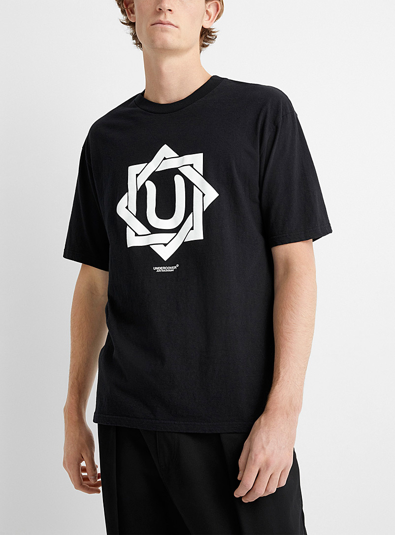 Undercover Black Interlaced logo tee for men