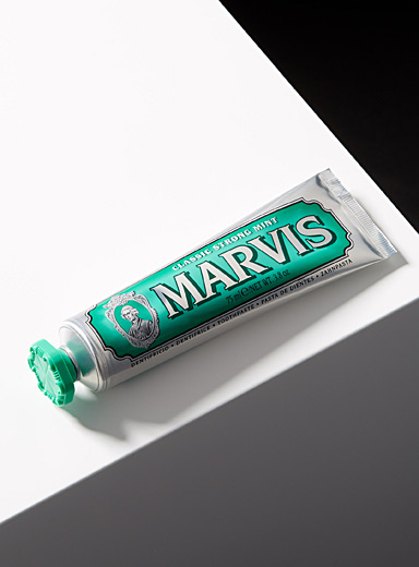 Le dentifrice menthe forte