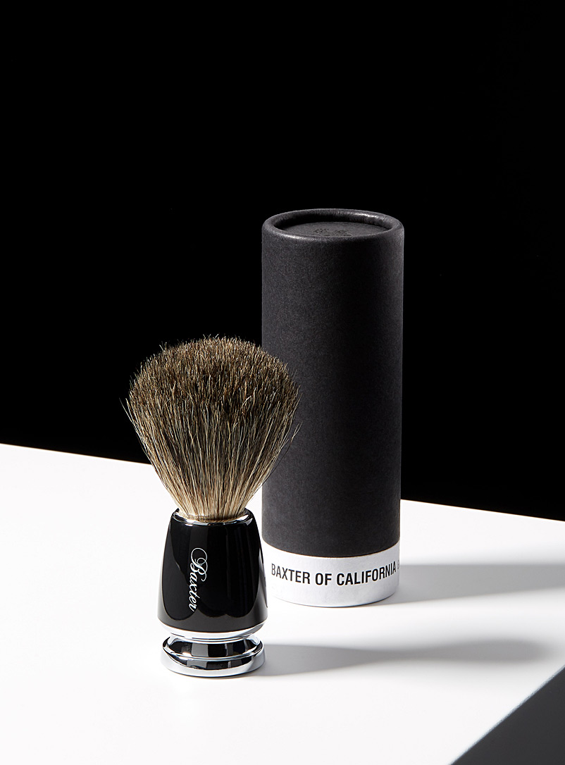 Baxter of California Black Pure badger shaving brush for men