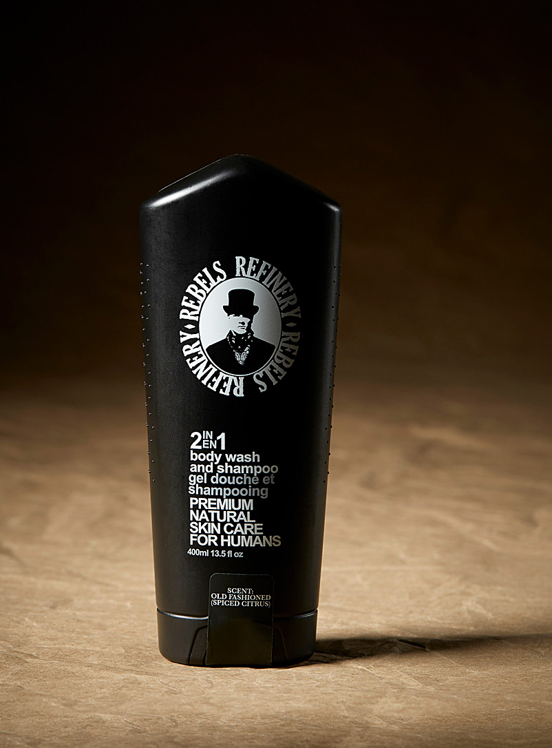 Rebels Refinery Black 2-in-1 shower gel and shampoo for men
