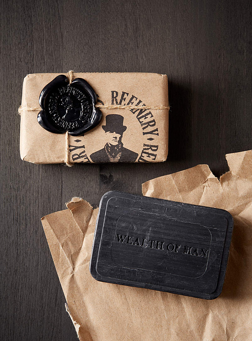 Rebels Refinery: Le savon hydratant Wealth of man Noir pour homme