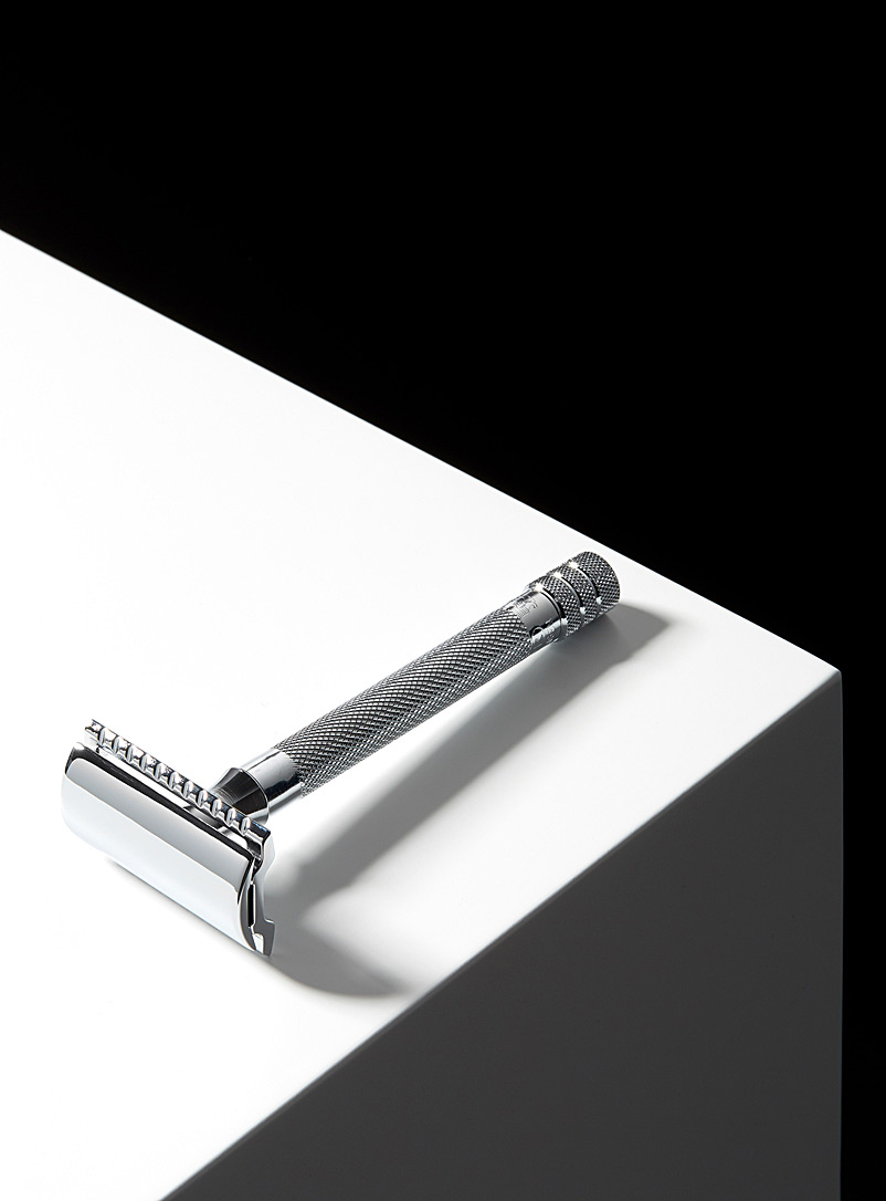 Merkur Silver 23C long handle safety razor for men