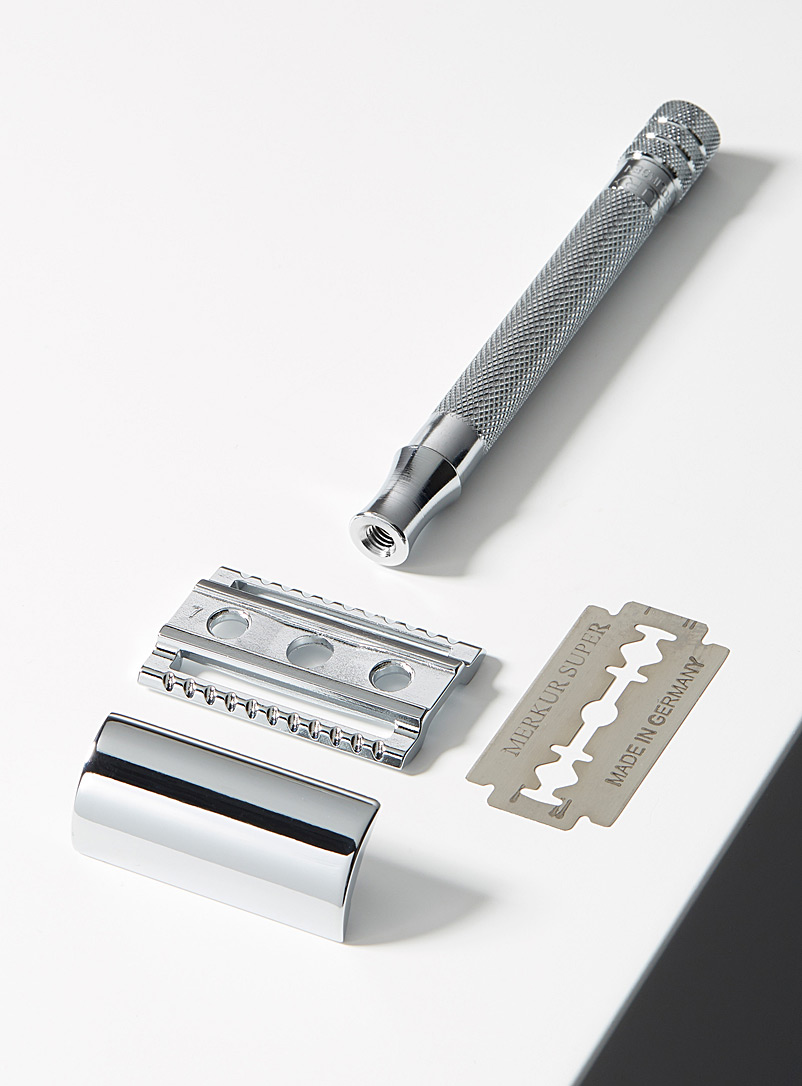 23C long handle safety razor - Safety Razors - Silver