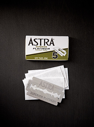 Astra Assorted Platinum blades  Set of 5 for men