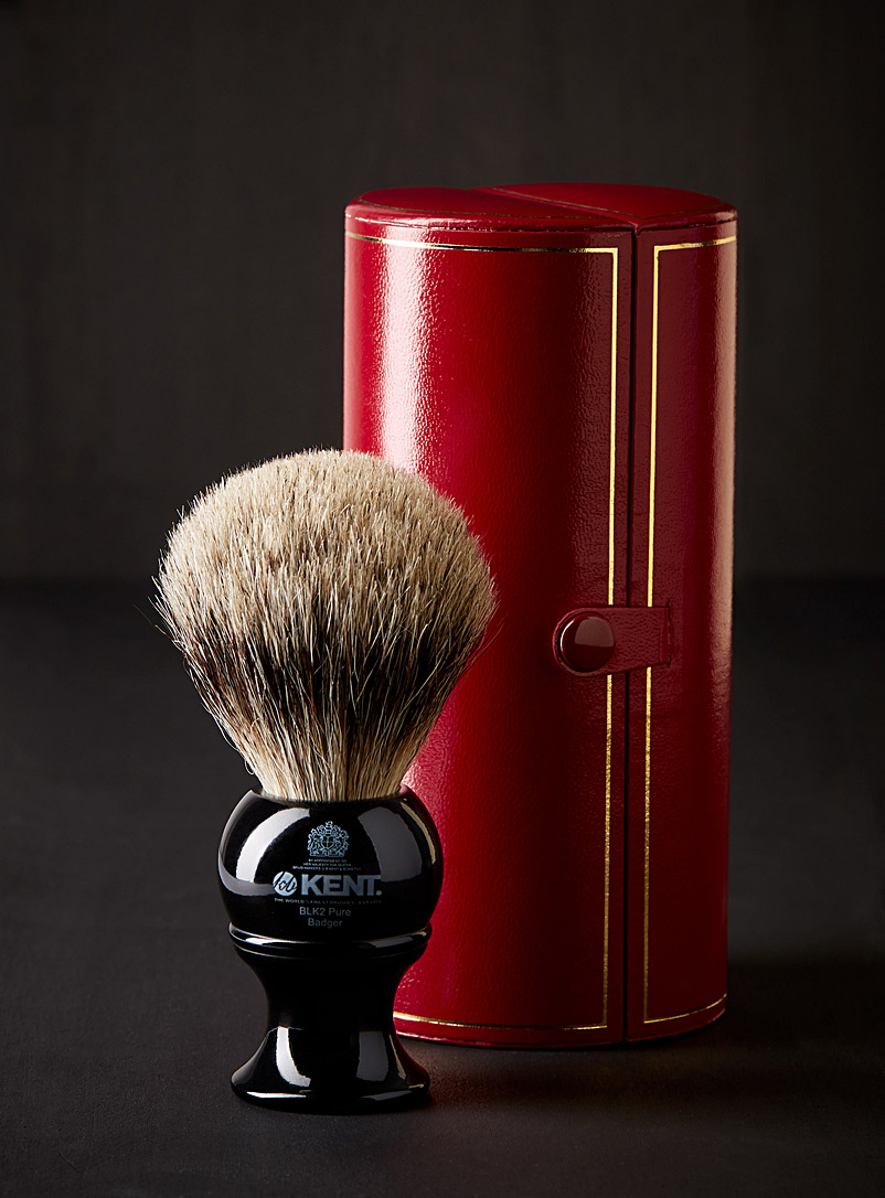 BLK 2 silver badger shaving brush