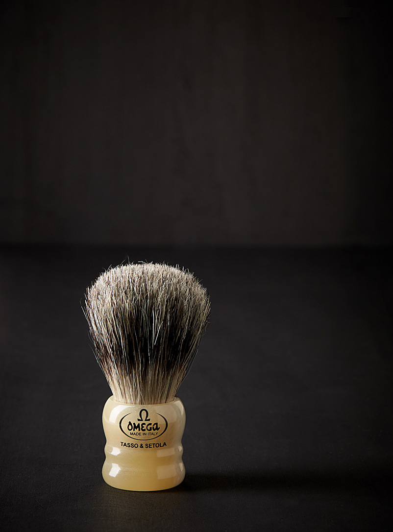 Omega Assorted Small boar and badger shaving brush for men