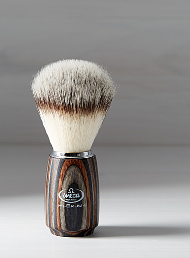 Premium synthetic fibre shaving brush