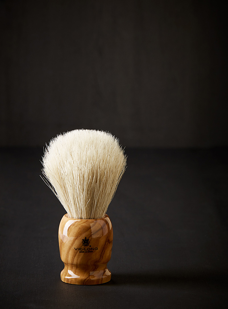 VieLong Assorted Olive wood and horsehair shaving brush for men