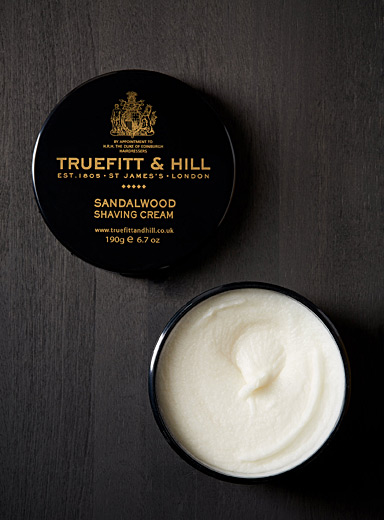 Truefitt & Hill Black Sandalwood shaving cream for men