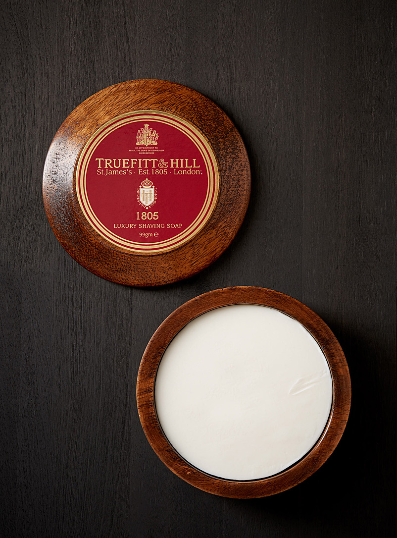1805 shaving soap in a wooden bowl - Shaving Soaps - Assorted