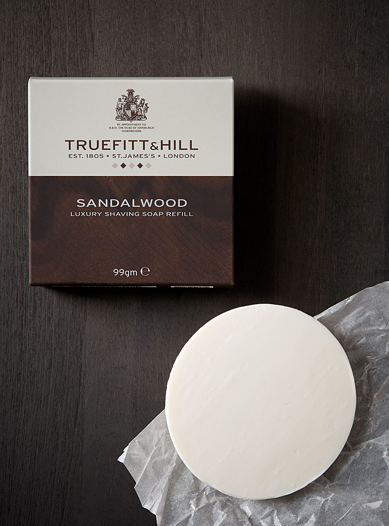 Truefitt & Hill Brown Sandalwood shaving soap refill for men