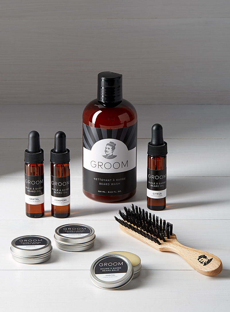 Industries Groom Black Deluxe beard care set for men