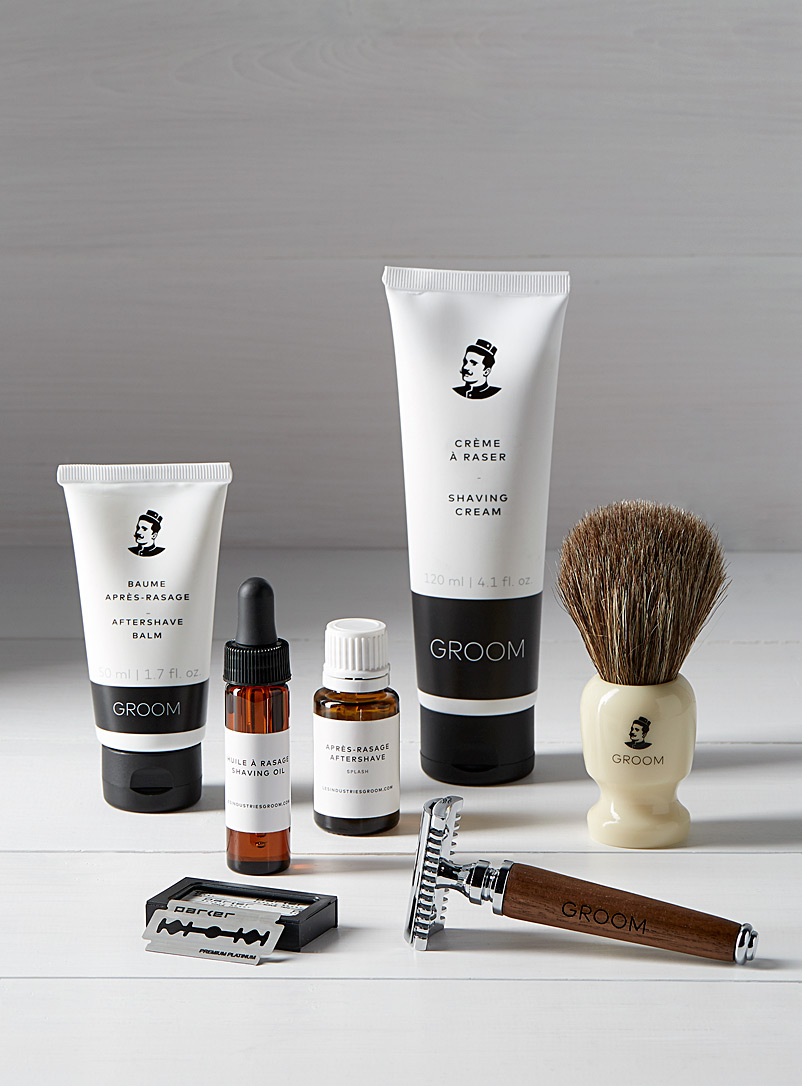 Industries Groom Black Deluxe shaving care set for men