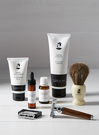 Deluxe shaving care set