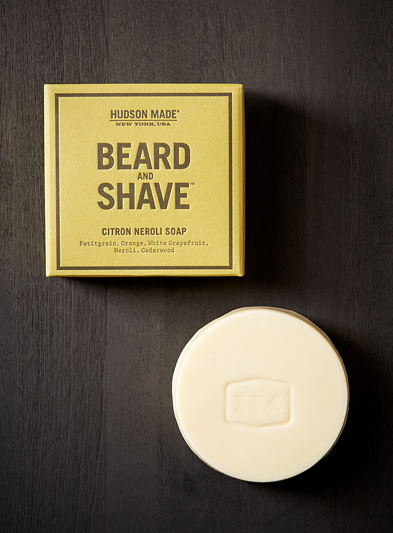 Hudson Made Golden Yellow Citron neroli beard and shave soap for men