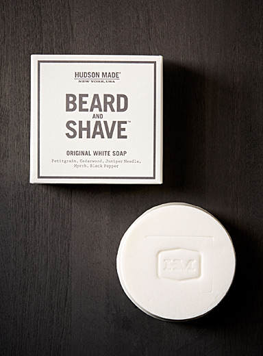 Original white beard and shave soap