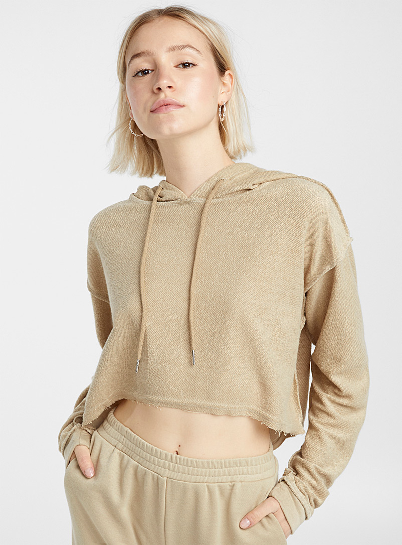 Le sweat court tricot ratine - Chandails ouatés - Brun