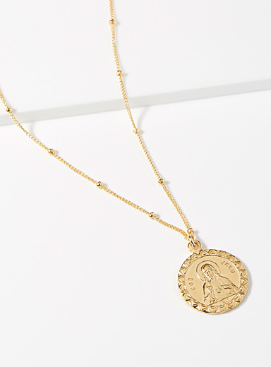 Icon medallion necklace