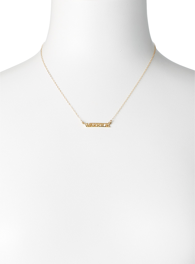 Warrior By Naomi Gold Warrior pendant necklace for women