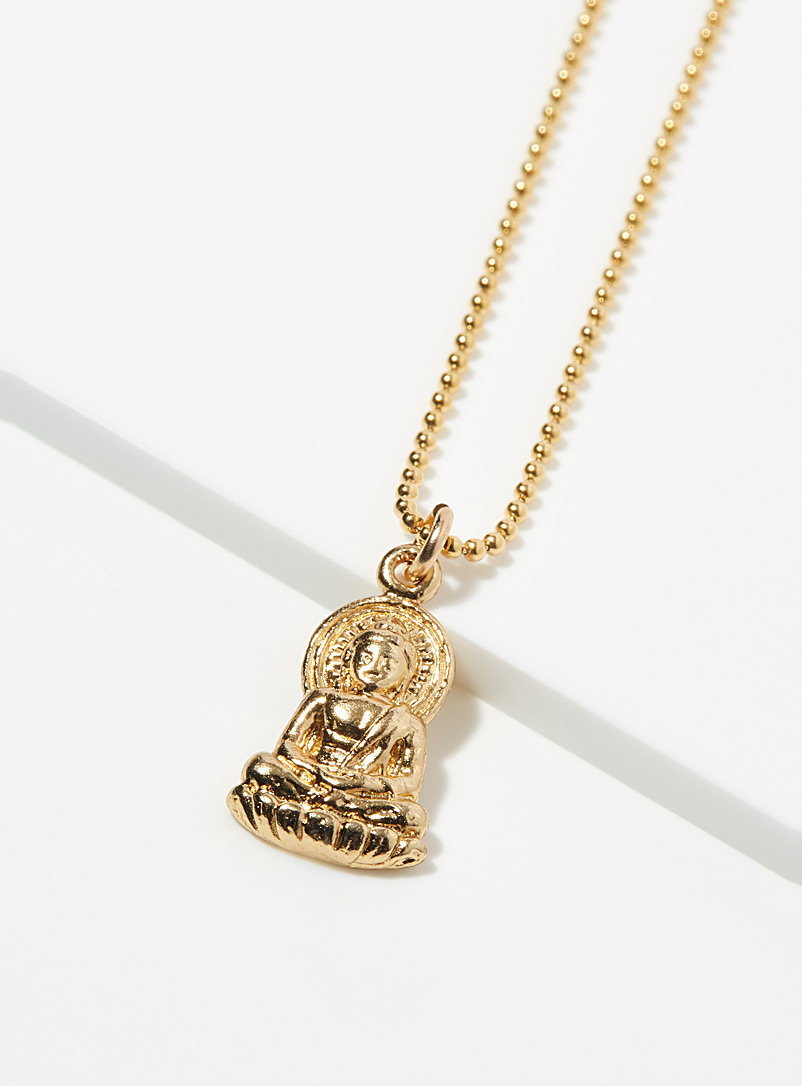 Warrior By Naomi Gold Meditating Buddha necklace for women