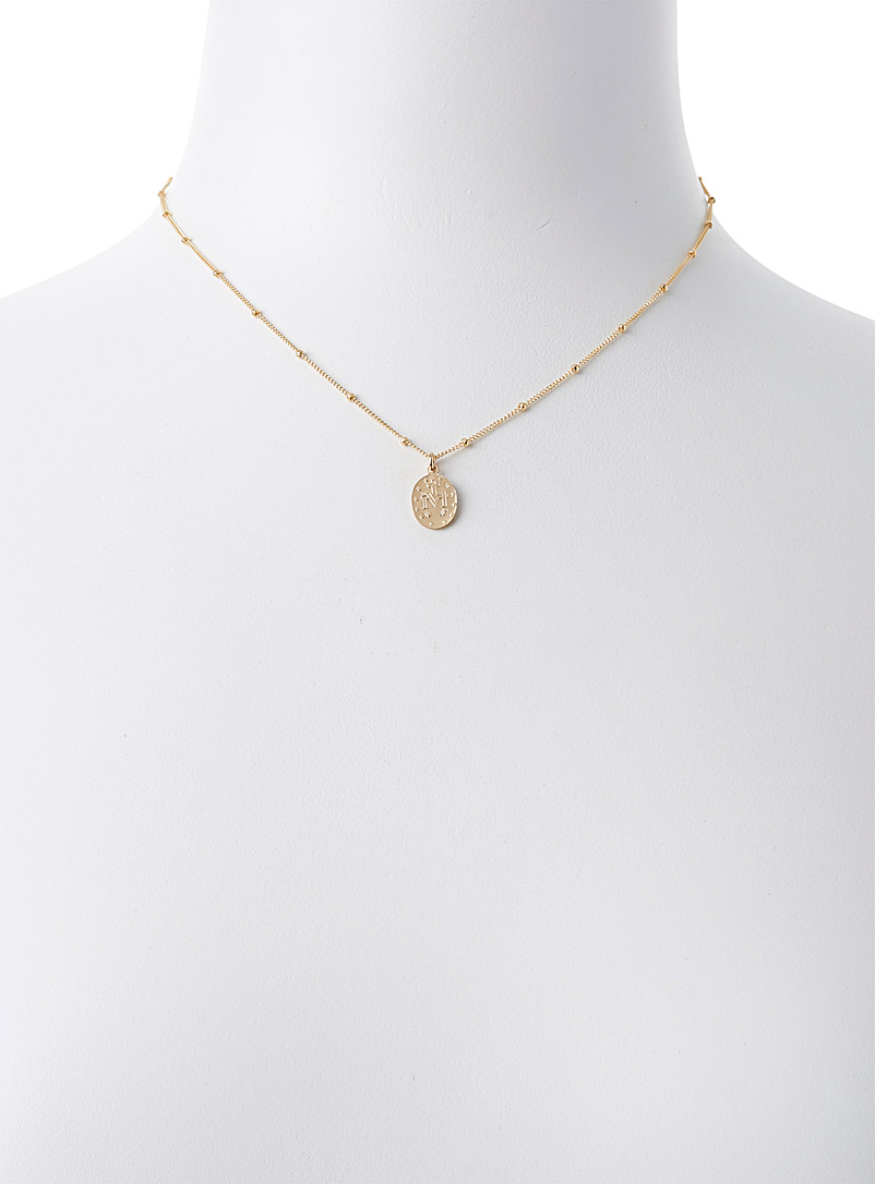 Warrior By Naomi Assorted Gold icon chain necklace for women
