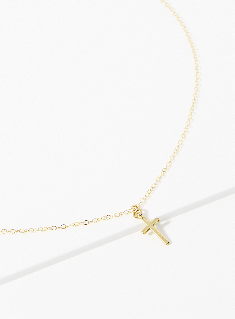 Warrior By Naomi Gold Cross pendant necklace for women