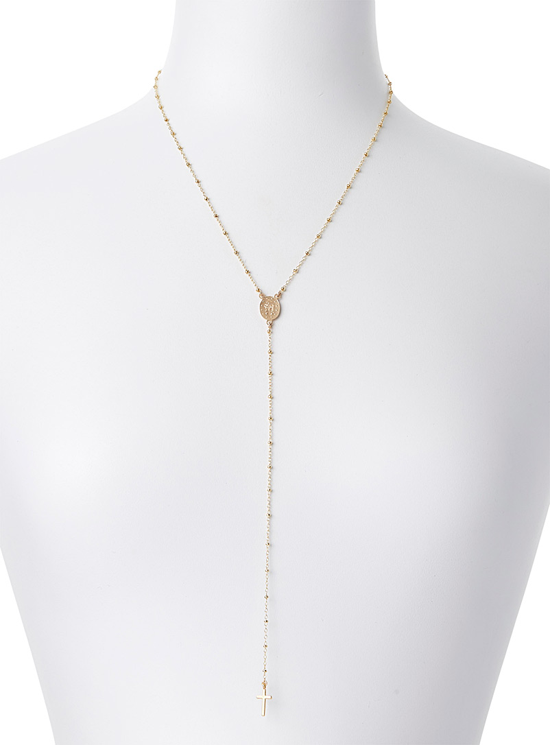 Warrior By Naomi Assorted Medallion and cross necklace for women