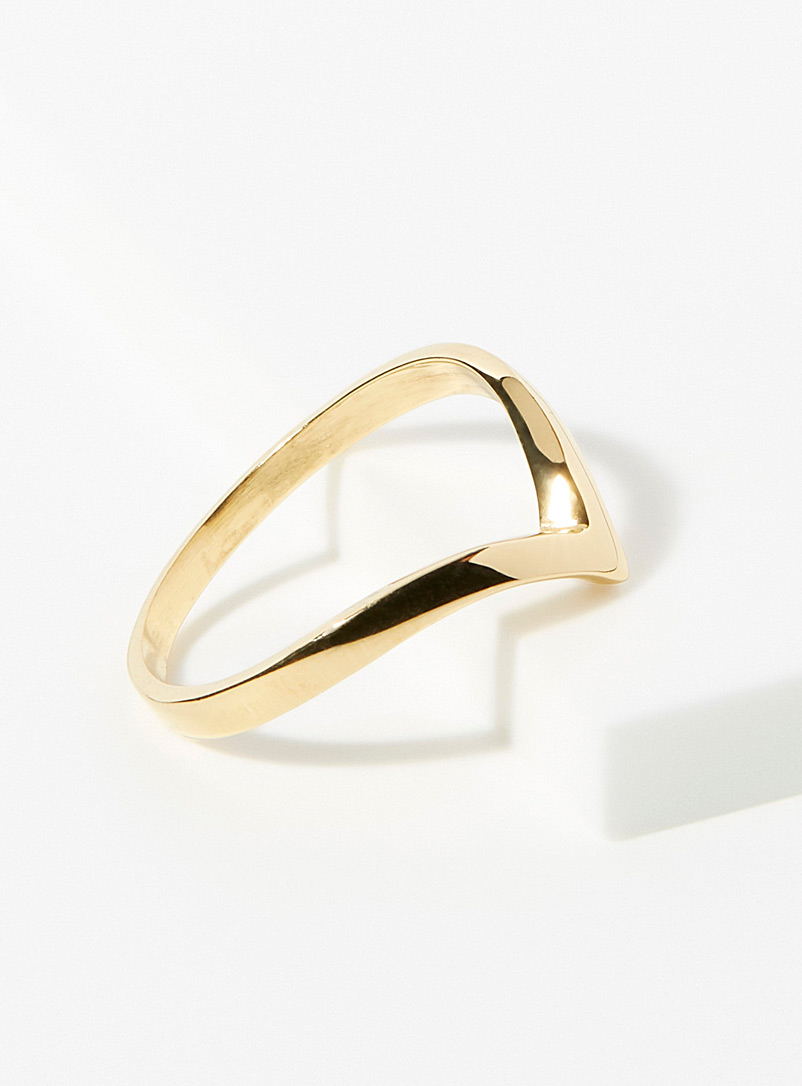 Warrior By Naomi Assorted Gold pointed ring for women