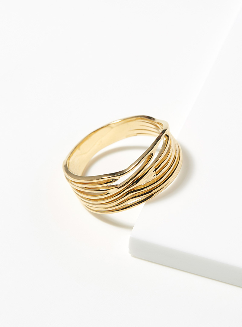 Warrior By Naomi Gold Roots ring for women