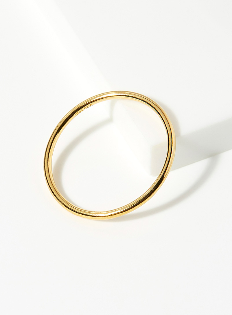 Warrior By Naomi Assorted Minimalist gold ring for women