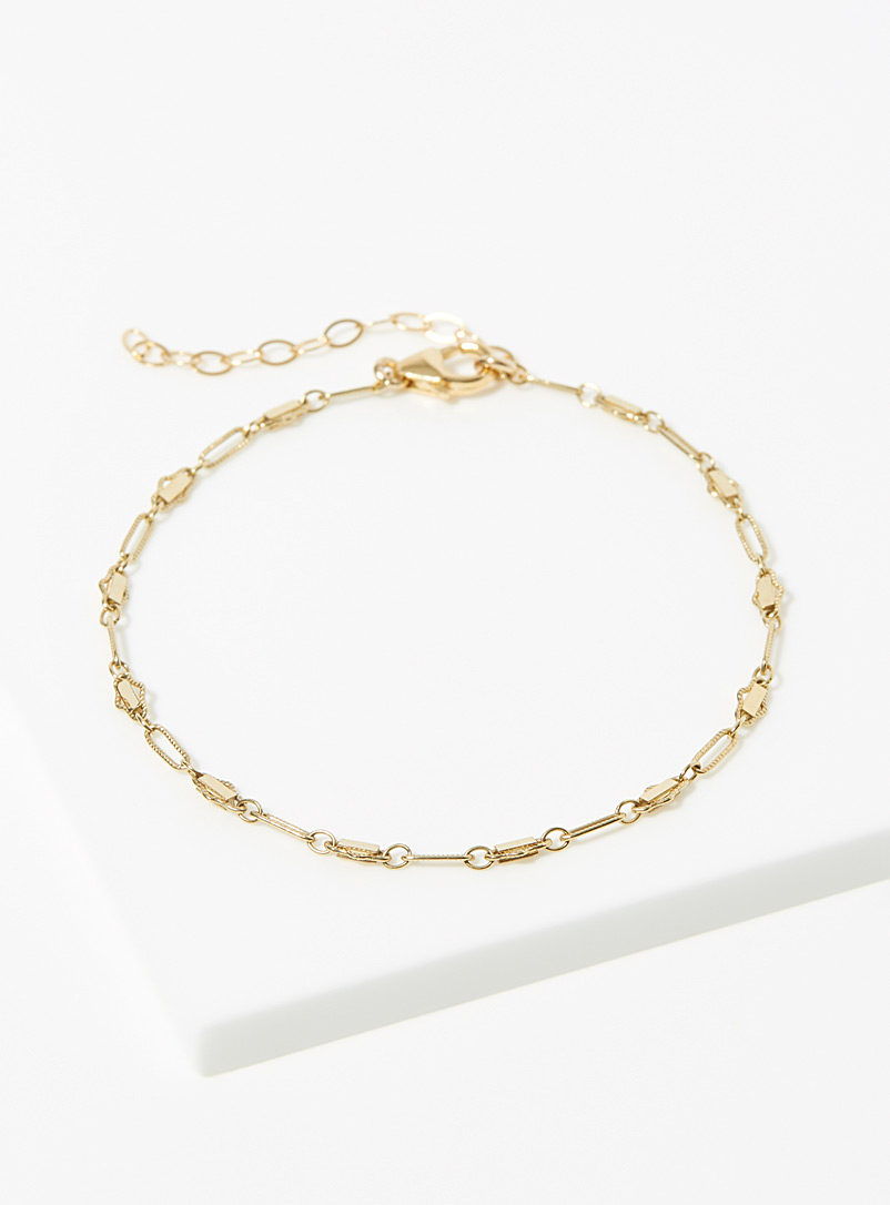 Warrior By Naomi Gold Triangle Bar bracelet for women