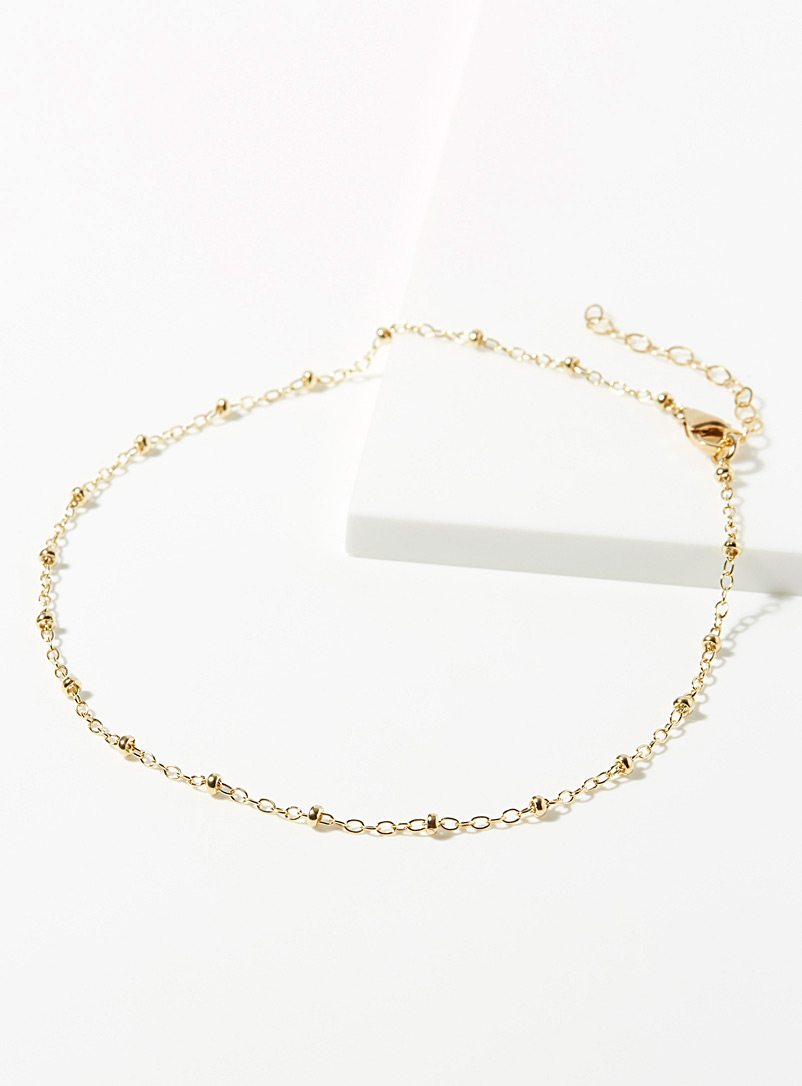 Warrior By Naomi Assorted Gold chain anklet for women