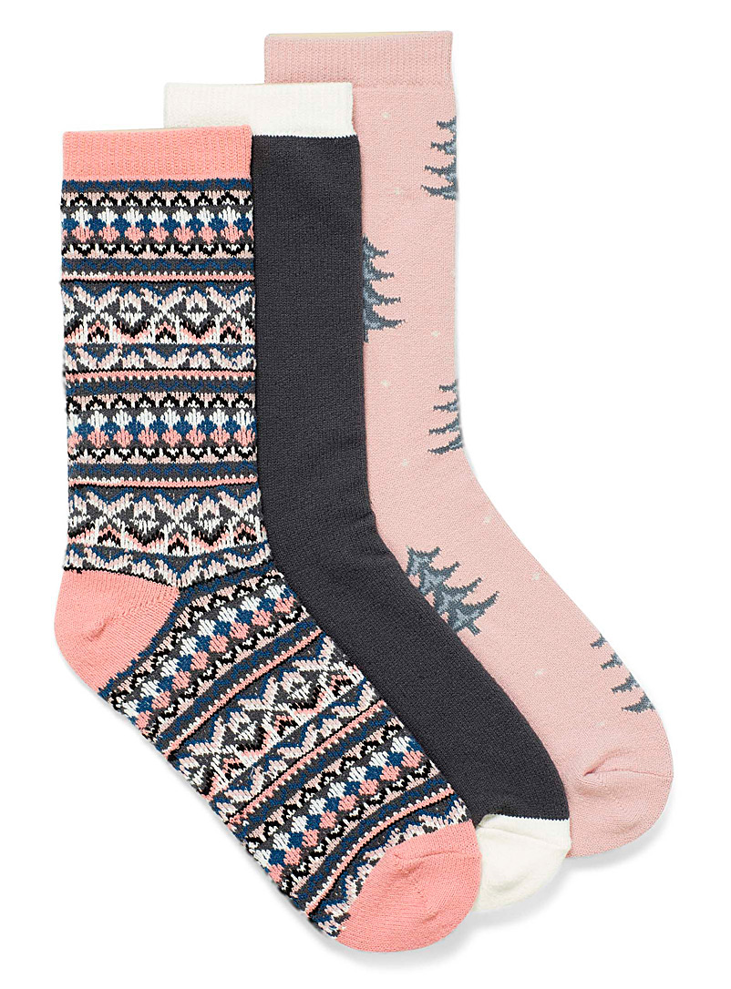Joys of winter knit socks  Set of 3