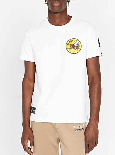 Avirex White Seabees emblem T-shirt for men