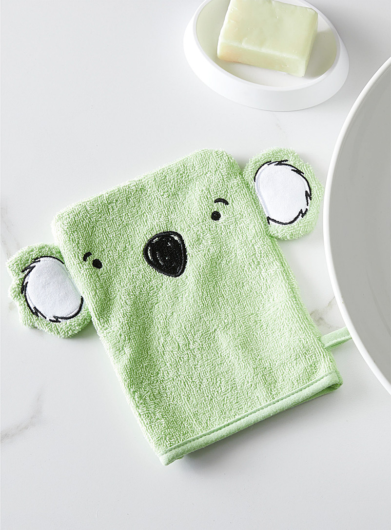 Simons Maison Lime Green Kwa koala children wash mitt