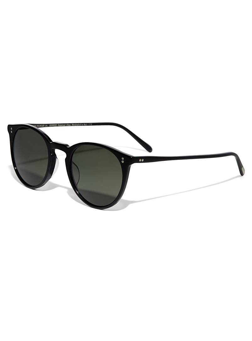 OLIVER PEOPLES Black O'Malley Sun round sunglasses for women