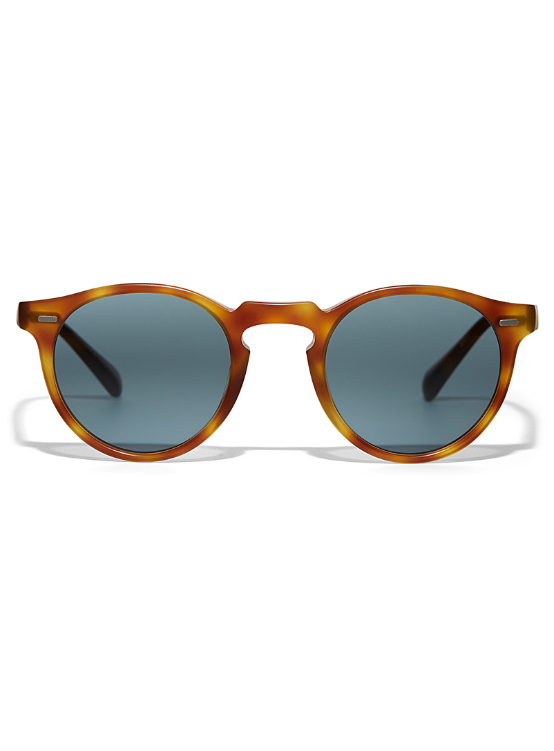 OLIVER PEOPLES Medium Brown Gregory Peck round sunglasses for women