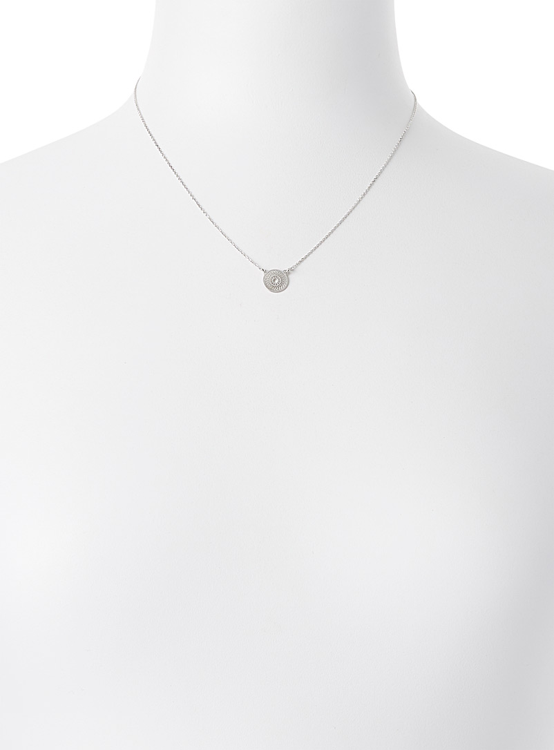 Simons Silver Openwork pendant necklace for women