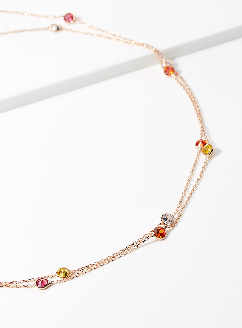 colourful-stone-chain-necklace