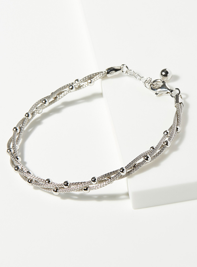 Intertwined wire bracelet - Genuine Silver - Silver