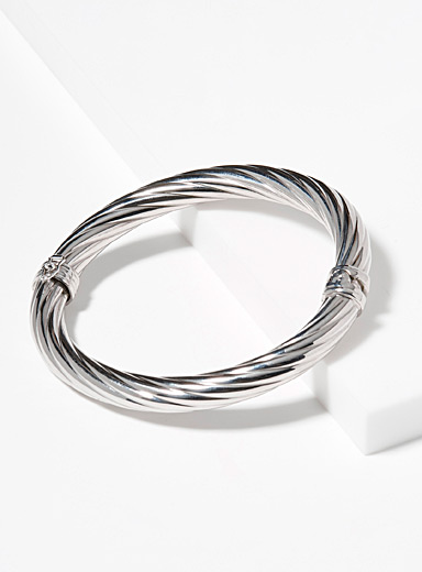 Simons Silver Silver twist bracelet for women