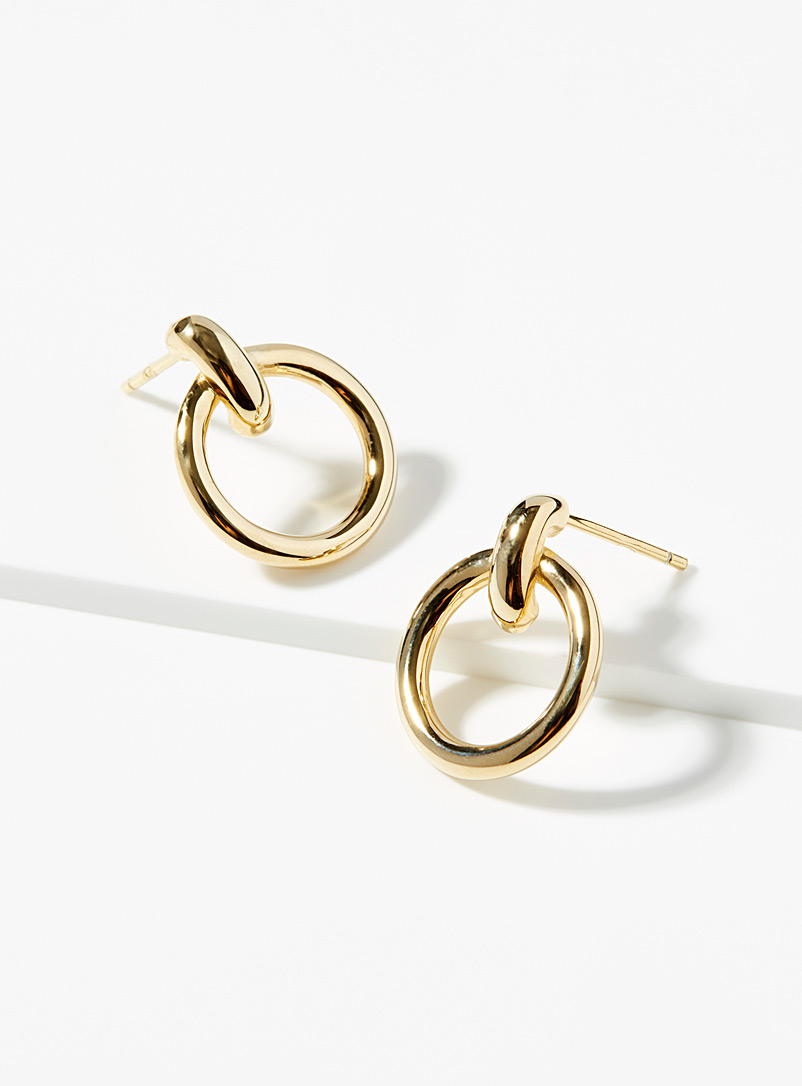 Midi34 x Simons Gold Les Angèle earrings for women