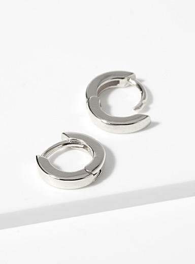 Midi34 Silver Les Jessica hoops for women