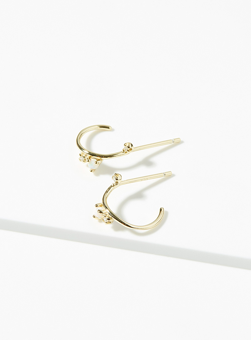 Midi34 x Simons Gold Les Claire hoops for women