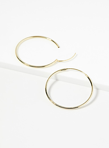 Midi34 x Simons Assorted gold  Les Florence hoops for women