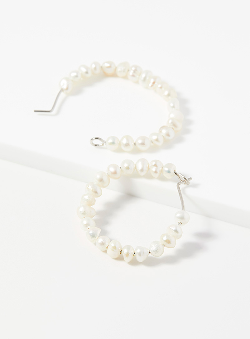 Midi34 x Simons White Les Irène hoops for women