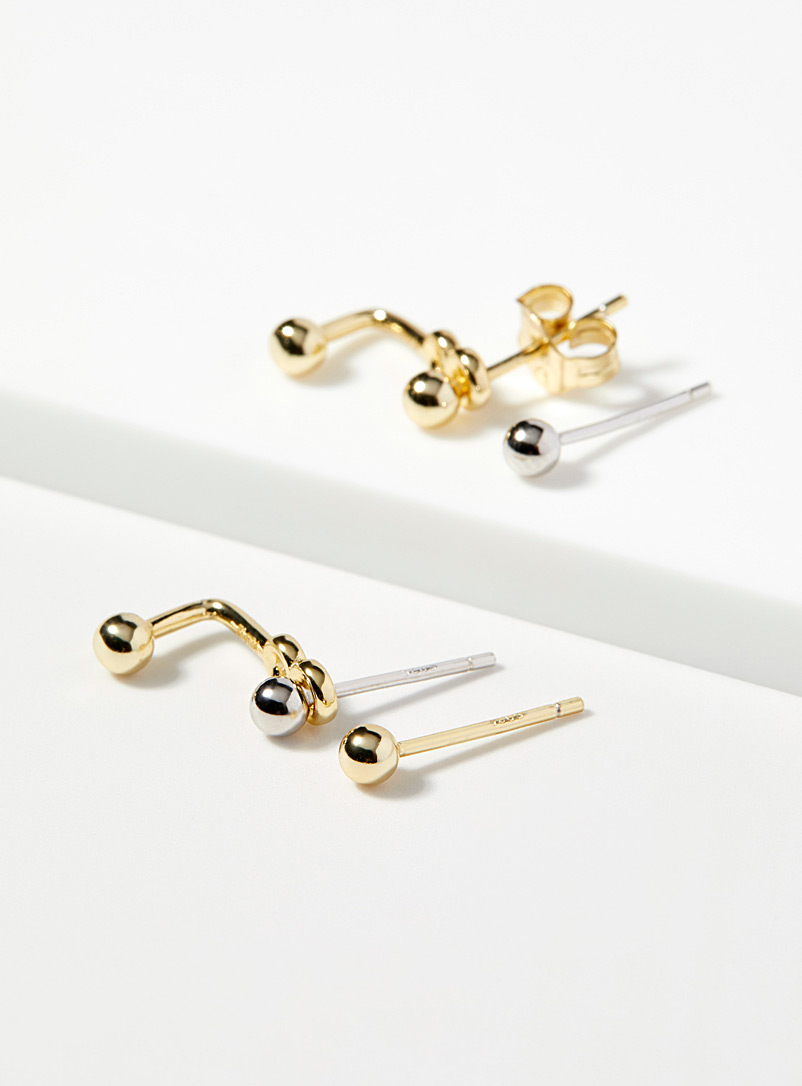 Midi34 x Simons Gold Les Ginette earrings for women