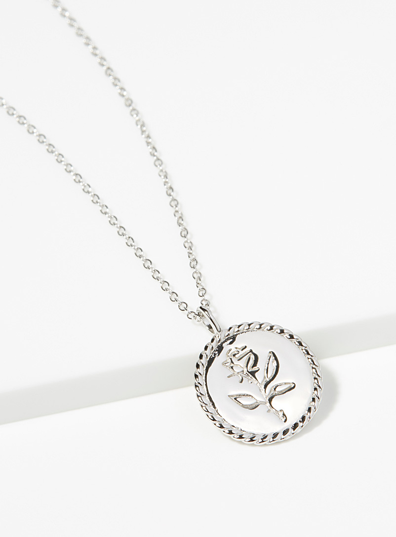 Midi34 Silver Mélissa necklace for women